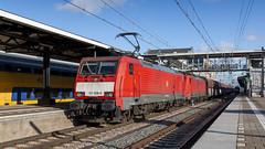 DB Cargo 2x Class 189 storming through Dordrecht (Nicky Boogaard) Tags: db cargo dbc dbcargo class189 baureihe189 siemenseurosprinter siemens eurosprinter es64f4 189 dordrechtcs dordrecht railfan railfanning