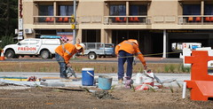 Digging up the new Light Rail (spelio) Tags: act architecture construction nsw australia feb 2019 transport rail