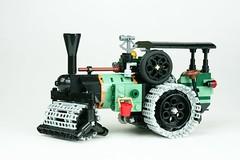 Steamroller sand green (Mr_Kleinstein) Tags: lego bricklink steam steamroller