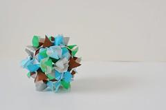 Laurania Kusudama (Byriah Loper) (Byriah Loper) Tags: origami modularorigami modular byriahloper kusudama paperfolding paper polygon polyhedron geometric folding