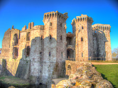 Time to Blow this Castle Up! (RS400) Tags: cool castle raglan wales south buildings art wow amazing hdr blue sky landscape stones olympus green grass shadows light uk history past travel