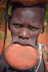 Surmi Woman (Rod Waddington) Tags: africa african afrique afrika äthiopien ethiopia ethiopian ethnic ethnicity etiopia ethiopie etiopian outdoor omovalley omo omoriver outdoors surmi tribe traditional tribal woman lipplate culture cultural