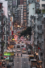 Yau Ma Tei, HK (mikemikecat) Tags: ç´è² temple street market night hong kong 油麻地 廟街 built structure building exterior city illuminated place worship religion travel destinations belief crowd crowded high angle view spirituality outdoors life old