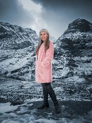 Shayne, Glencoe (Smart arts) Tags: beauty model scotland glencoe fashion snow mountains