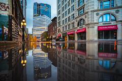 After the Storm (Mike   MP-P) Tags: weather mbstorm winnipeg canada reflection photography pentaxian pentax k1 manitoba canadianphotographers water reflect city urban downtown explore exploremb