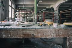Workplace (michael_hamburg69) Tags: lostplace offthemap abandonedplace urbanexploration urbex porzellanfabrik gipsform plastermold form porzellan porcelain factory bonechina phototourmit3daybeard3tagebart werkstatt workplace