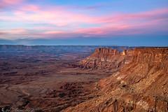 Twilight in Canyon Country (Bill Bowman) Tags: canyonlandsnationalpark canyonrimsrecreationarea needlesoverlook sunset twighlight edgeofnight coloradoriver coloradoplateau utah