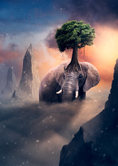 Elephant tree (Malcolm Hare Photography and Tuition) Tags: composite elephant fantasy tree light hss