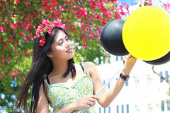 IMG_2711 (Sharmila Padilla) Tags: flowers lady canon portrait ladies balloon outside play pinkflowers pink photography street modes happy joy smile pretty sports white road makeup