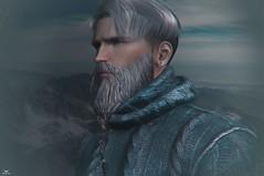 Skip~Viking Spirit (Skip Staheli *11 YEARS SL PHOTOGRAPHY*) Tags: skipstaheli secondlife sl fashion grey male winter cold guy man avatar virtualworld digitalpainting mountain outdoor travel