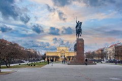 (Yvan Rouxel) Tags: artpavilion cityofzagreb croatia january kingtomislavsquare wpcroatia winter zagreb hrv