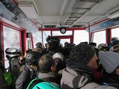 Schilthornbahn, cable car (deltrems) Tags: cablecar cable car public transport people men women swiss berner bernese oberland switzerland murren schilthorn schilthornbahn