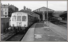 A trip down Memory Lane (david.hayes77) Tags: metropolitancammell 1976 northeast hartlepool class101 dmu 2n67 bw blackandwhite ilford fp4 acutol hartlepoolstation countydurham eastcoast