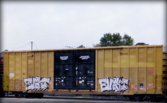 evikt (timetomakethepasta) Tags: evikt freight train graffiti art boxcar