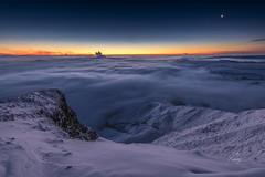 Conjuction over freezing fog (John Finney) Tags: jupiter venus moon conjustion snow freezingfog winter dawn stars highpeak mamtor pennines dramaticlandscape castleton morning northwestengland derbyshire