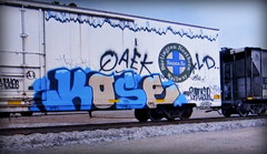 (timetomakethepasta) Tags: qaek ld kose htf kyt freight train graffiti art bnsf reefer