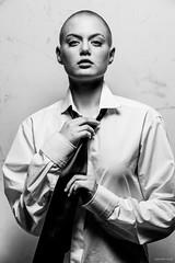 Alia (Roj) Tags: sallysparrowworkshop crewcut bald canon5dmkiv canonef70200mmf28isiiusm androgynous tie nosepiercing mono beauty hands shorthair whiteshirt portrait bw blackandwhite monochrome