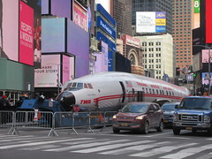 2019 Celebration of Retro TWA Hotel - Wingless Plane Times Square 4481 (Brechtbug) Tags: 2019 celebration retro twa hotel brooklyn wingless 1958 lockheed constellation connie l1649a starliner airplane visits times square before heading trans world airlines new yorks john f kennedy international airport known york anderson field commonly idlewild city march 23rd nyc 02232019