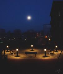 DSC_0022 (alex.jorneblom) Tags: borås sweden building architechture city sunrise rise moon lamps dark