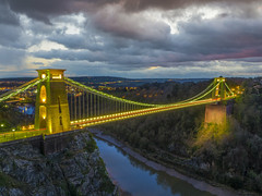 behind the clouds the sun is still shining (Wizard CG) Tags: clifton suspension bridge bristol england uk long exposure landscape epl7 architecture ed ngc world trekker micro four thirds 43 m43 olympus mzuiko digital tourist attraction outdoor serene sky park grass tree tower sunset wizard cg