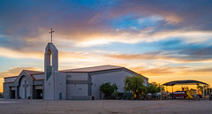DSC08404-HDR (Skyler-Schmidt) Tags: architecture building az arizona sky sunset blue hour clouds outdoor church cathedral religion christian