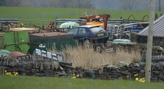 Saxo VTS (Sam Tait) Tags: citroen saxo scrap pile junk junkyard scrapyard yard its 16 1600 hot hatch hatchback 1999 blue petrol retro boy racer french car
