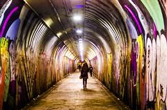The tunnel of love (Capitancapitan) Tags: tunnel love pentax colors street manhattan nyc new york neury luciano urim y tumim pop rock people women