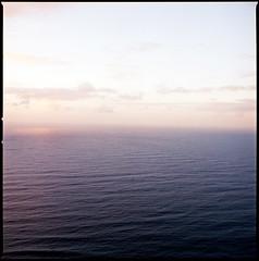 The Atlantic ocean as seen from my Grandmother's house. (Brjann.com) Tags: typical alt kodak ektar 120film 120 film analog sunset pink hues purple atlantic ocean medium format hasselblad 501cm mood