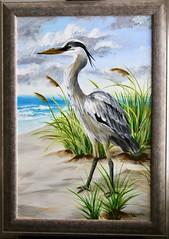 Blue Heron (Piedmont Fossil) Tags: art painting blue heron bird beach scene acrylic