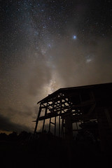 In the deep Coromandel valley of New Zealand lies an abandoned farm shed (Moa-photography-nz) Tags: stars galaxy milkyway astro astrophotography astrophoto sony a7iii sonya7iii wideangle mood dark abandoned shed farm nature wild travel adventure adventuring nz newzealand aoteoroa aotearoa summer starry night sky full frame orange magic