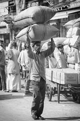 0909 Hard Work II (Hrvoje Simich - gaZZda) Tags: man work street indian monochrome blackwhite india new delhi asia travel nikon nikond750 nikkor283003556 gazzda hrvojesimich
