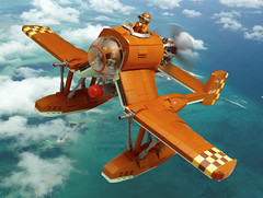 AR-31 Swordfish (JonHall18) Tags: ww2 dieselpunk fighter plane aircraft fantasy torpedo seaplane warplane moc lego bomber