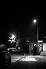 ISO, exposure, aperture... And shoot! (Bearded Shooter) Tags: person portrait nightshot night exposure contrast car road street light lighting chip shop friend canon nikon d7200 450d photography photographer streetshot nightscape