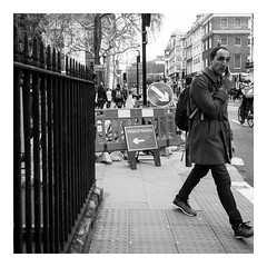 Go your own way (exreuterman) Tags: london street olympus m43 micro 43 bloomsbury bw monochrome candid