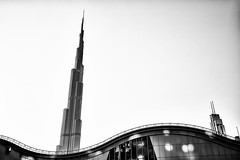 Wave of Architecture (M. Nasr88) Tags: 1635f4 architecture attraction building burjkhalifa city cityscape d750 dubai dubaimall landmark nikon sky naturallight digital uae urban wideangle blackandwhite monochrome bw