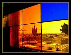 nach draußen geRICHTERter Blick (diezin) Tags: album9 april bleiverglasung bunt deutschland diezin domdach domdachbegehung domdachführung farbig fenserln fenster flickr fujifinpixs2000hd kölle köln kölnerdom