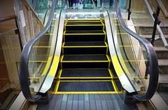 World's Shortest Escalator (Human-Faced Bun & Honey Pudding) Tags: escalator up steps stairs leg