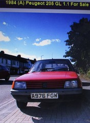 Oldest Roadworthy 205 in the UK? (occama) Tags: a976fgw 1984 peugeot 11 gl old oldest car red bangernomics french longterm owner historic early