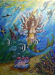 MERMAIDS. (tomas491) Tags: mermaids pearls sharks nemo shipwreck sunrays treasure flag fish bubbles necklace underwater seascape sails seabed handmade clownfish seagrass