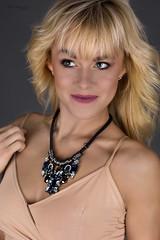 Necklace (piotr_szymanek) Tags: ania aniaz woman young skinny face portrait studio blonde necklace nobra smile 1k 20f 50f 5k 10k 100f 20k 30k