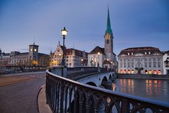 Münsterbrücke Zürich (benedikt.t) Tags: zurich city architecture switzerland