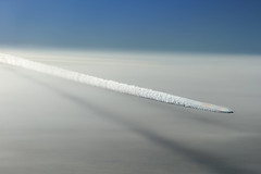 Contrails (ColinParker777) Tags: contrails trails sky boeing 787 ana nh all nippon airlines airways airliner air aircraft aviation fly flying flight cruise altitude clouds skyscape shadow shadows japan air2air