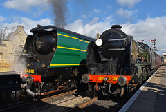 Southern Splendour (simmonsphotography) Tags: railway railroad steam locomotive engine train uksteam preservation preserved nenevalley wansford southern 34081 92squadron bulleid lightpacific battleofbritain streamlined spamcan maunsell vclass schools 926 repton 30926