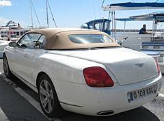 White Bentley! ('cosmicgirl1960' NEW CANON CAMERA) Tags: cars puertobanus costadelsol marbella spain espana travel holidays andalusia yabbadabbadoo