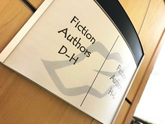 Arc Library Signage (2/90 Sign Systems) Tags: 290 sign signs signage systems wayfinding facility modular 290signsolutions arc paper insert laser print library genre user updatable temporary