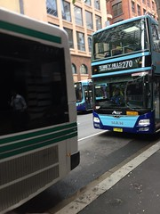 Buses in Sydney (Simon_sees) Tags: publictransit publictransportation publictransport transport rushhour commute forestcoaches sydneybuses doubledecker bus