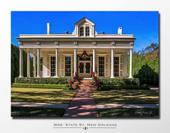 1640 State St. New Orleans, La. 70118 (Elliott Cowand) Tags: 1640statestneworleans louisiana uptownneworleans nola old mansion usa uptown house home building architecture doors windows dormer window porch steps elliottcowandyahoocom elliottcowand corinthiancolumns columns christmas christmasdecorations garland neworleans copyright allrightsreserved
