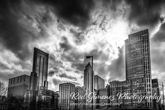 Black and white sun rays in Chicago (Rod Gimenez Photography) Tags: city chicago sky sunset cityscape architecture skyline skyscraper downtown usa building tower urban travel night illinois reflection blue waterfront street contemporary blackandwhite illuminated scene michigan life dusk view white lake black water landmark destinations office outdoors exterior midwest district twilight landscape dark dramaticsky tourism background outdoor nature willis river america