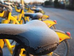 2019 Bike 180: Day 65, April 3 (olmofin) Tags: 2019bike180 finland bicycle polkupyörä kaupunkipyörä espoo bikeshare forst huurre