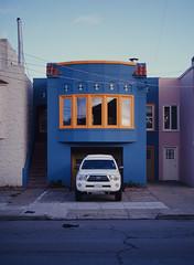 Sunset District // San Francisco (bior) Tags: pentax645nii pentax645 pentax 645 kodakfilm kodak kodaklumiere lumiere slidefilm mediumformat 120 sanfrancisco sunsetdistrict house driveway truck